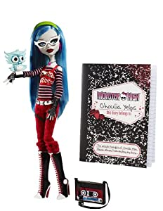 Monster High - Muñeca Ghoulia Yelps con diario (Mattel)
