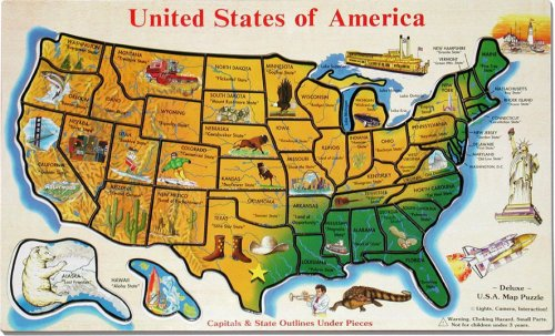 A Favorite Childhood Memory Geography Puzzle Map Goody