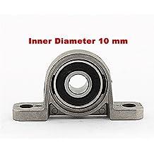 Alcoa Prime 1Pcs Inner Diameter 10 Mm Zinc Alloy Bore Pillow Block Metal Ball Bearing
