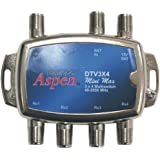 "Eagle Aspen DTV3X4 DirecTV-Approved ""Min Max"" 3-In/4-Out Multiswitch"