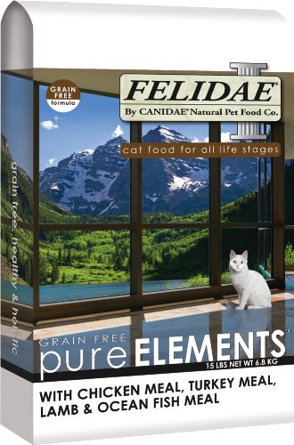 See Felidae Dry Cat Food for Adult Cats and Kittens, Grain Free Formula, 15 Pound Bag