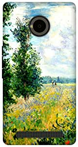 The Racoon Grip Poppy Field, Argenteuil hard plastic printed back case / cover for Yu Yuphoria
