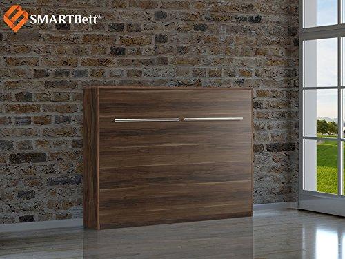SMARTBett horizontal Klappbett Gästebett Schrankbett , Liegefläche 140x200cm, Pflaume Wallis online kaufen