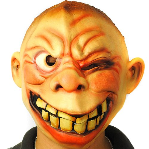 Classic Scary Latex Weird Laugh Face Halloween Mask