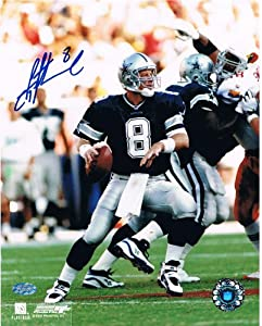 Troy Aikman Autographed Dallas Cowboys Signed 8x10 Photo Mounted Memories COA 3 by Powers Collectibles