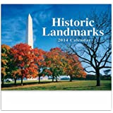 Historic Landmarks Stitched Wall Calendar Trade Show Giveaway