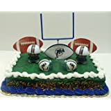NFL Football Miami Dolphins Birthday Cake Topper Set Featuring Dolphins Helmets and Dolphins Decorative Pieces