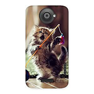 Gorgeous Dancing Cute Cat Back Case Cover for HTC One X