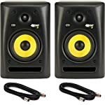 Pair of KRK Rokit 5 Studio Monitor Speakers with Two 18-Foot XLR Cables by KRK Systems