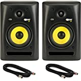 Pair of KRK Rokit 5 Studio Monitor Speakers with Two 18-Foot XLR Cables
