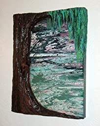 Abstract Expressionism Modern ART Combination Relief and Painting Titled: WEEP, WILLOW, WEEP