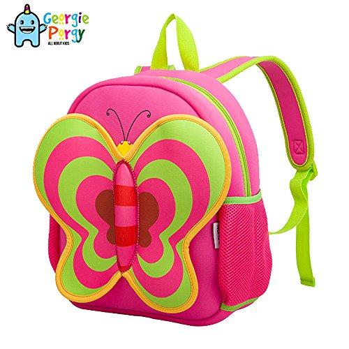 georgie-porgy-mochila-infantil-mariposa-mochilas-escolares-impermeable-lindo-rosa