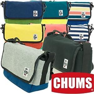 (チャムス) CHUMS スモールカメラショルダー スウェット & コーデュラナイロン マルチ/ネイビー マイクロ一眼レフ カメラ デジカメ 用 バッグ
