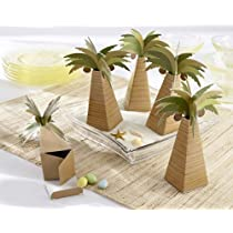 Palm Tree Favor Box with Multi-dimensional Detail (Set of 288) - Baby Shower Gifts & Wedding Favors (Set of 12)