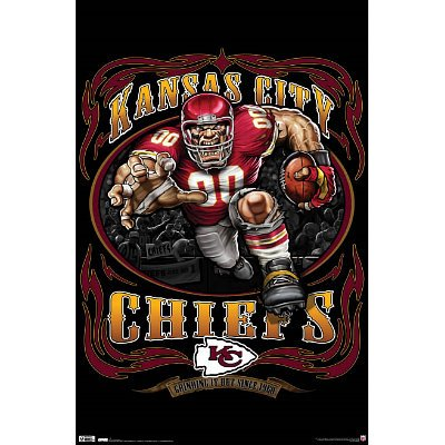 (22x34) Kansas City Chiefs (Mascot, Grinding It Out Since 1960) Sports Poster Print at Amazon.com