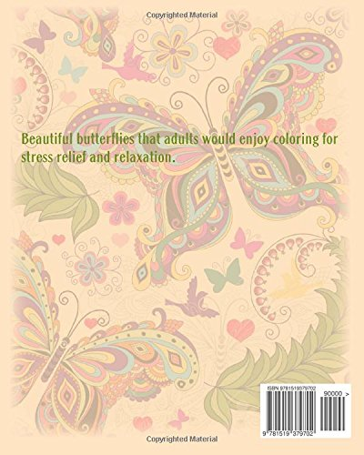 coloring book for adults lovely butterflies for stress relief and relaxation adult coloring books