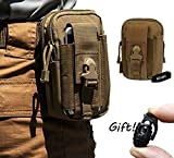 LefRight Military Mud Color 1000D Nylon Tough Outdoor Gear Holster Utility Pouch for iPhone 6 iPhone 6 Plus