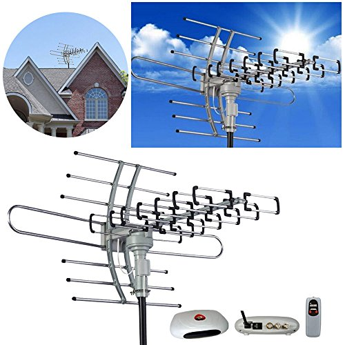 Best Price! Hdtv Outdoor Amplified Antenna Hd Tv Hdtv Hdtv 1080p Outdoor Amplified Antenna 360 Rotor...