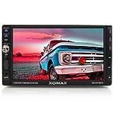 XOMAX XM-2DTSB78 Radio de coche / reproductor multimedia con 18 cm / 7 pulgadas Pantalla táctil / Touch screen + Bluetooth manos libres y reproducción de música a través de A2DP para teléfonos inteligentes, reproductores de MP3, etc + Código Free DVD / CD + ranura para tarjetas SD (hasta 32 GB!  ) Y puerto USB (hasta 32 GB) para audio y video: MP3, WMA, AVI, DIVX, MPEG4, etc + ID3 tag display + sintonizador de radio RDS + AUX En las conexiones + para la cámara de visión trasera y subwoofer + Doble DIN (2 DIN) Tamaño de instalación estándar + IVA 2-DIN marco de montaje 2-DIN incl., la abertura y control remoto