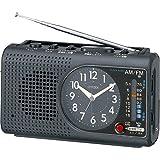 CITIZEN (シチズン) ラジオ付 目覚し時計 ワンダーボーイエスコート AM/FMラジオ 懐中電灯 非常用ブザー BC001-A02