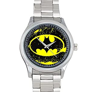 Batman Logo Stainless Steel Watch for Fans