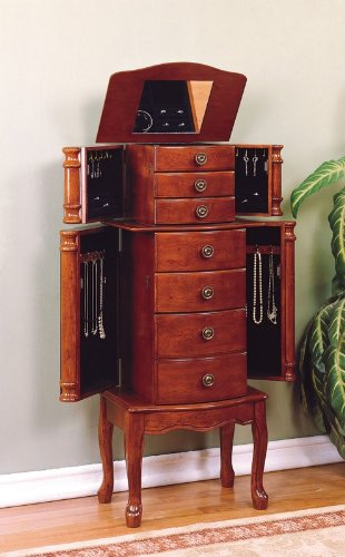 "Powell ""Classic Cherry"" Jewelry Armoire"