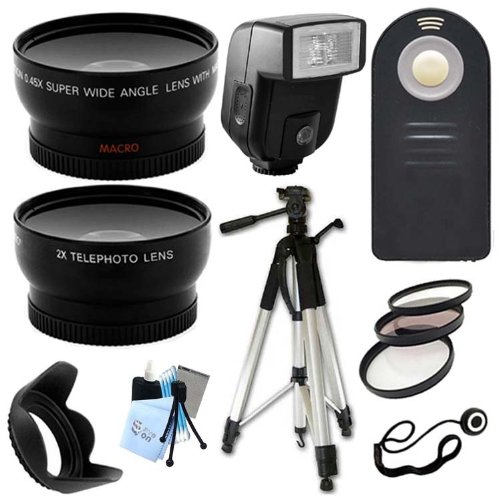 Ultimate Accessory Package For Canon Eos 1Dx, 5D, 5D Mark Ii, 5D Mark Iii, 6D, 60Da Digital Slr Cameras Includes: Full Size Tripod + 58Mm Wide Angle And Telephoto Lens + Flash + Filter Kit And Hood + Wireless Remote