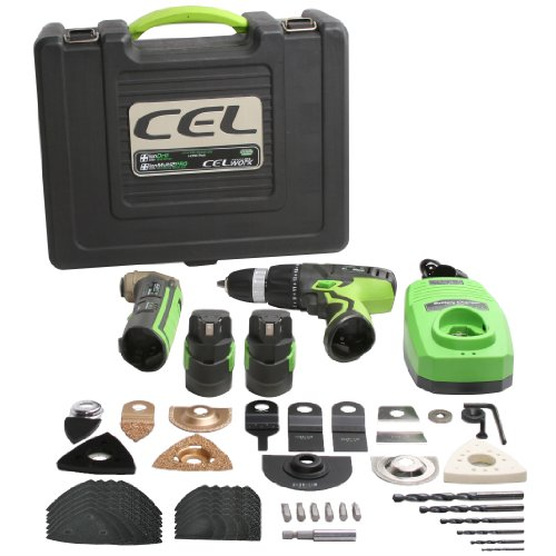 CEL I-CP01 COMBO PACK Multi2PRO Plus Ion Drill with 2 Li-ion Batteries / Extensive Accessory Pack / Fast Charger in Stackable Case