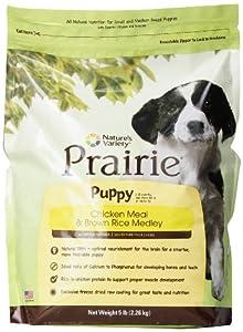 Prairie Puppy Chicken Meal & Brown Rice Medley by Nature's Variety, 5-Pound Bag