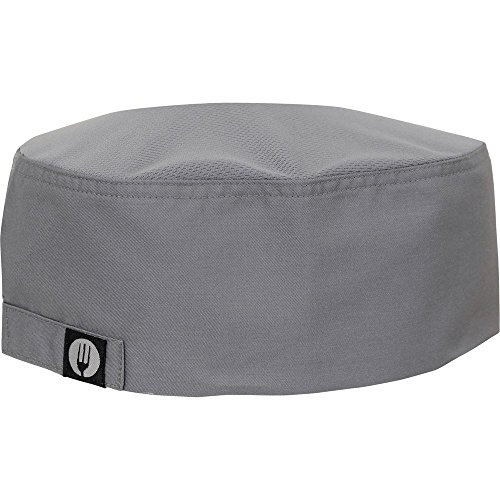CHEF WORKS Cool Vent Chef Wear Hat Velcro Adjustable Back Grey Poly Cotton (Chef Works Vented compare prices)