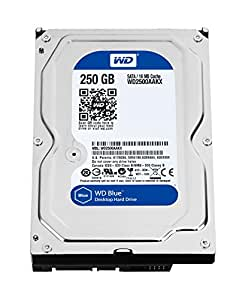 WD Blue 250GB Everyday PC Desktop Hard Drive: 3.5 Inch, SATA 6 Gb/s, 7200 RPM, 16MB Cache (WD2500AAKX) (Old Model)
