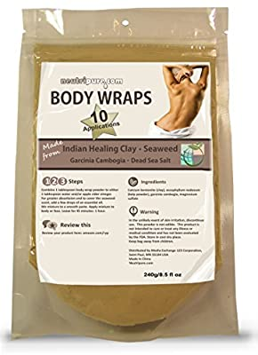 DIY Slimming Body Wrap: SPA Formula for Home Use: Seaweed, Healing Clay, Garcinio Cambogia, and Dead Sea Salt