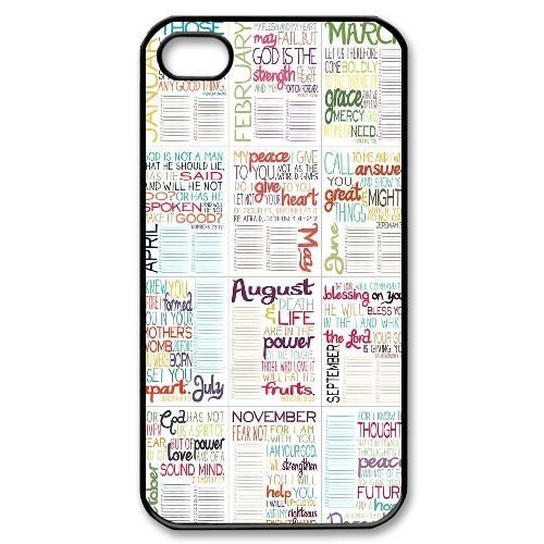 Bible Verse DIY Cover Case for iPhone 4,4S LMc-18562 at LaiMc