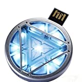 The Avengers 8GB IRON MAN Arc Reactor USB Flash Memory Drive LED light