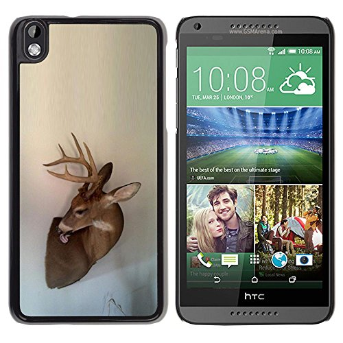 Antlers Beige Natura Primavera animale - Aluminum Metal & plastica dura Phone caso - nero - HTC DESIRE 816