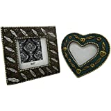 Decorative Photo Frame Vintage Style Antique Indian Home Decor Handcrafted Beaded Material Table Top Picture Frame...