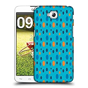 Snoogg Colorful Spots Blue Pattern Designer Protective Phone Back Case Cover For LG G Pro Lite