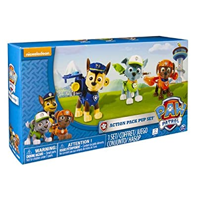 8 X Nickelodeon, Paw Patrol - Action Pack Pups 3pk Figure Set Chase, Rocky, Zuma from Spin Master