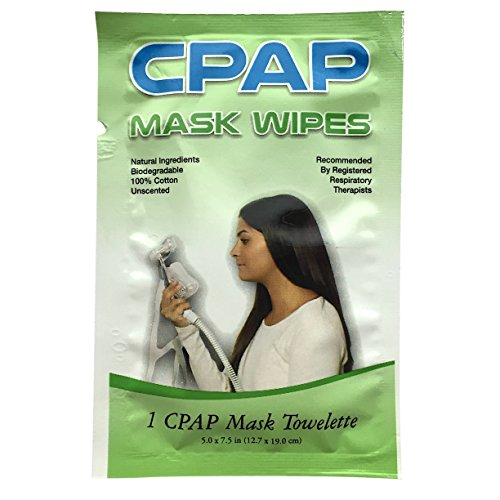 20 CPAP Mask Wipes | Single Packets for Travel & More | Natural Cleaning Solution for Nasal Pillows, Full Face on BiPAP & Other PAP Devices | Clean Tubing, Machine & Sleep Apnea Supplies & Accessories (Cpap Mirage Quattro Liner compare prices)