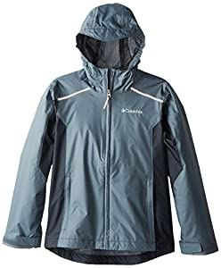Columbia Big Boys' Wet Reflect Jacket, Graphite, Medium