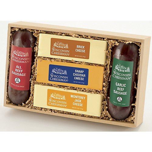 Wisconsin Cheeseman Cheese & Sausage Gift Box
