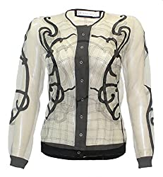 Attuendo Women's Hand Embroidered Sheer Jacket (Large)