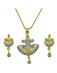 "AAKSHI ""Dancing Doll In The Rains"" Dual Tone CZ Diamond Jewellery Set"