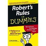 Robert's Rules For Dummies ~ Sarah Corbin Robert