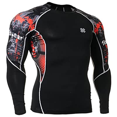 Fixgear Mens Womens Exercise Running Shirt Compression Top Long Sleeve S ~ 2XL from FG