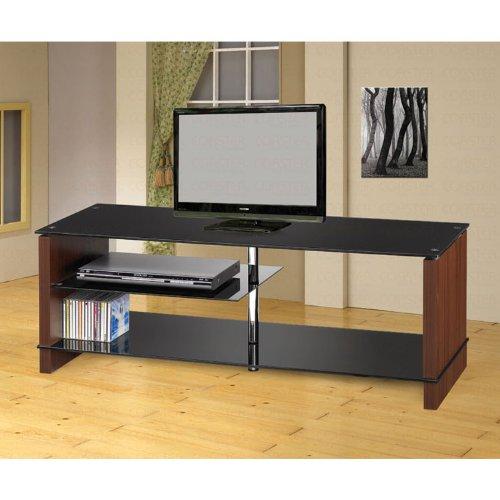 Cheap Chrome and Cherry TV Stand – Coaster Co. (B003XRA6Z6)
