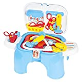 Best Choice Products My First Portable Pretend Play And Carry Doctor Play Set Folds Into Step Stool