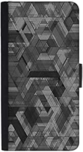 Snoogg Space Black Abstract Designer Protective Phone Flip Back Case Cover For Samsung Galaxy J7 (2016)