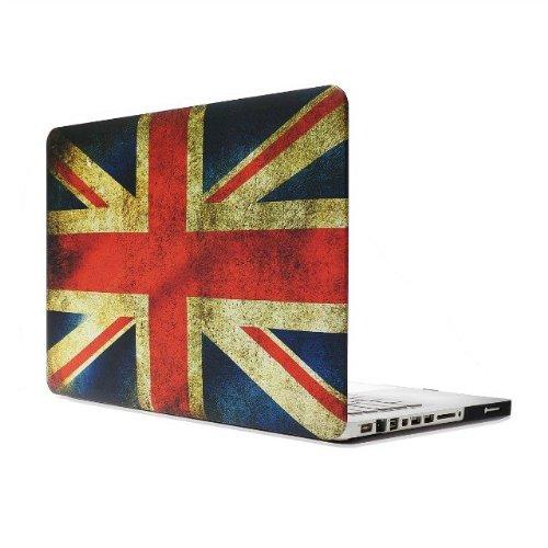 Iunio Macbook Pro 13.3 Inch Retina Display A1502 A1425対応イギリス国旗柄ハードケース.1枚英字キーボード保護フィルム入り.1枚液晶保護フィルム入り