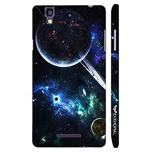 Micromax Yureka Universe Planets Orbits designer mobile hard shell case by Enthopia